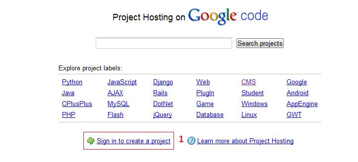 Iniciamos Sesión en Google Code