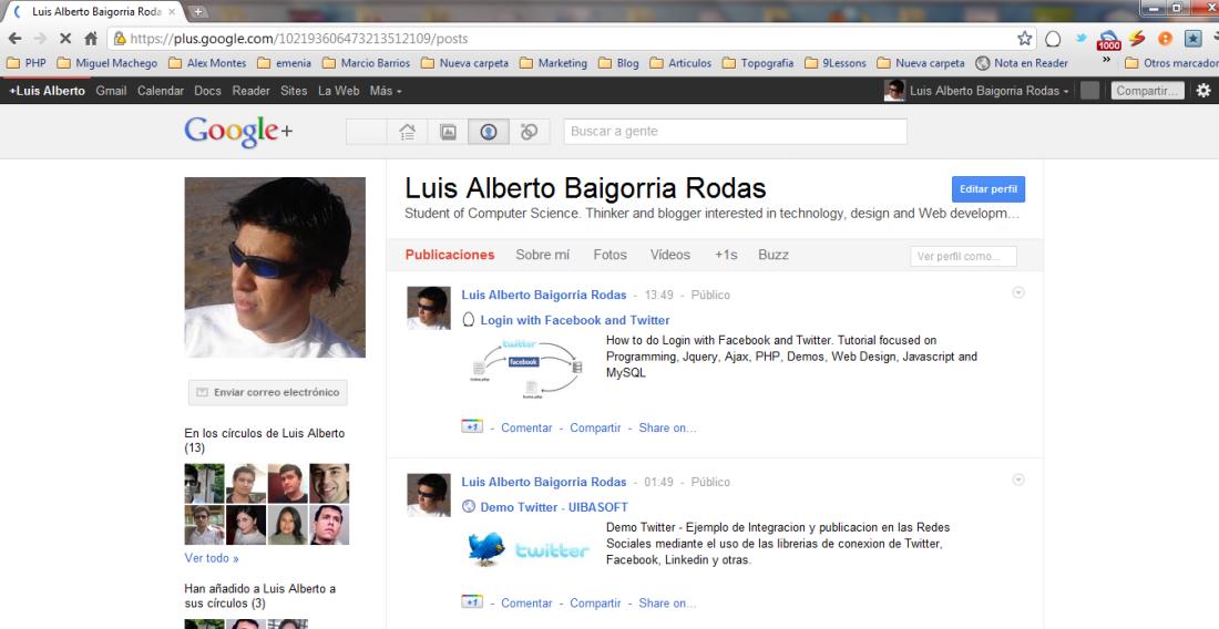 Google Plus - Luis Alberto