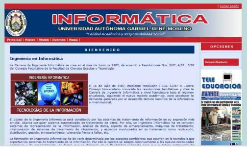 Portal Web Ingeniería Informática - UAGRM